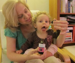 Toddler Happily taking Glycerine Tincture